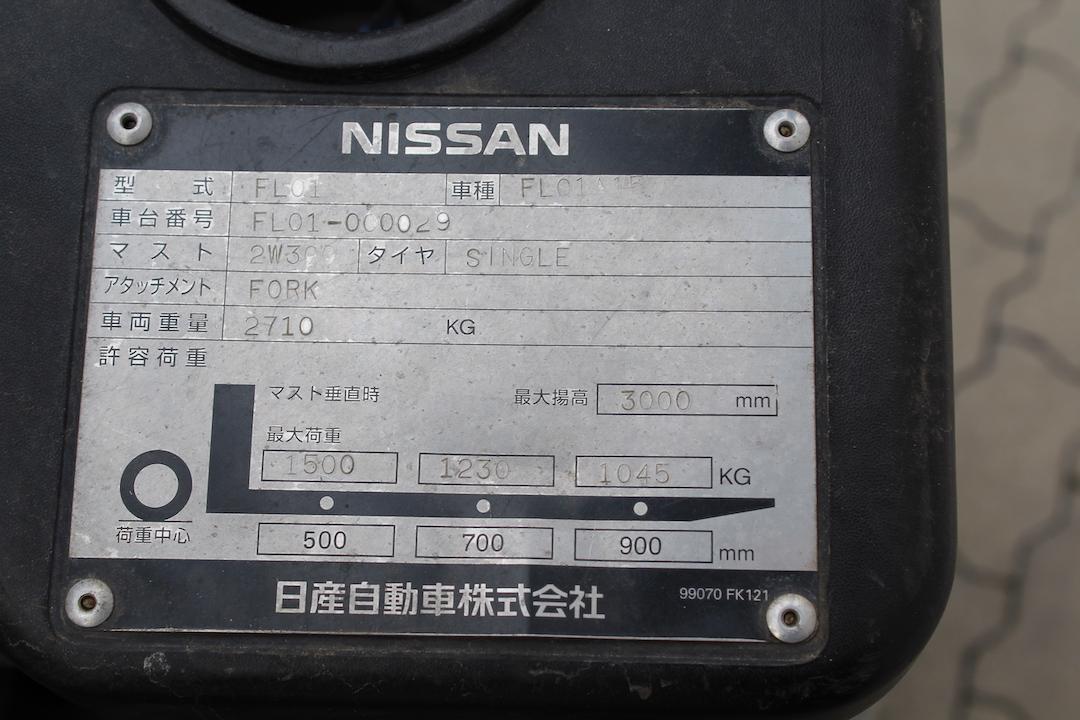 Nissan gázos targonca
