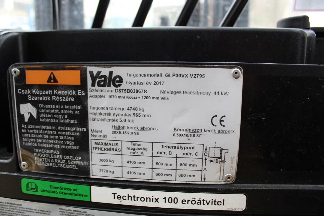 YALE GLP30VX gázos targonca PG304104 - 1