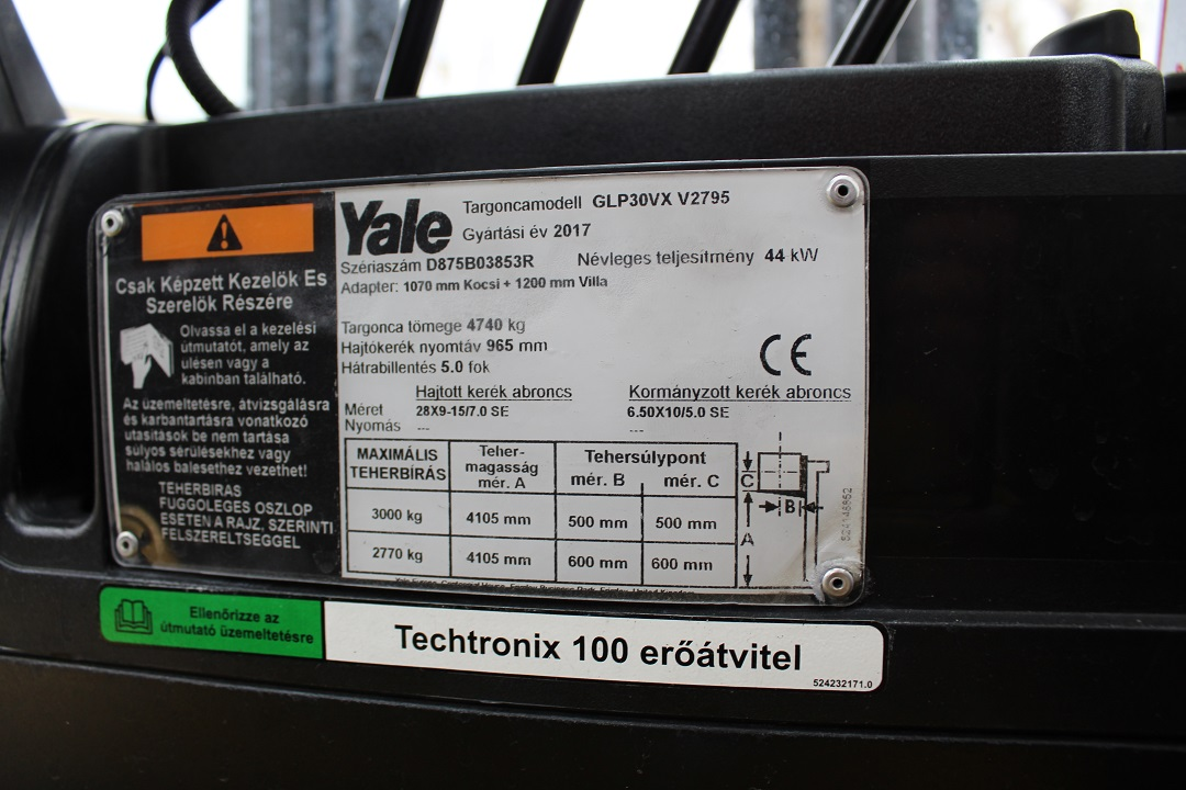 PG304105 Yale gázos targonca3