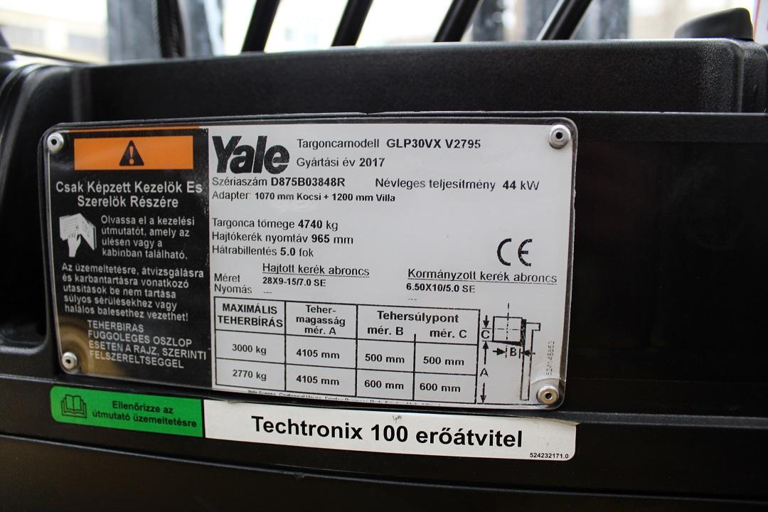 YALE GLP30VX homlokvillás gázos targonca PG304101 -4