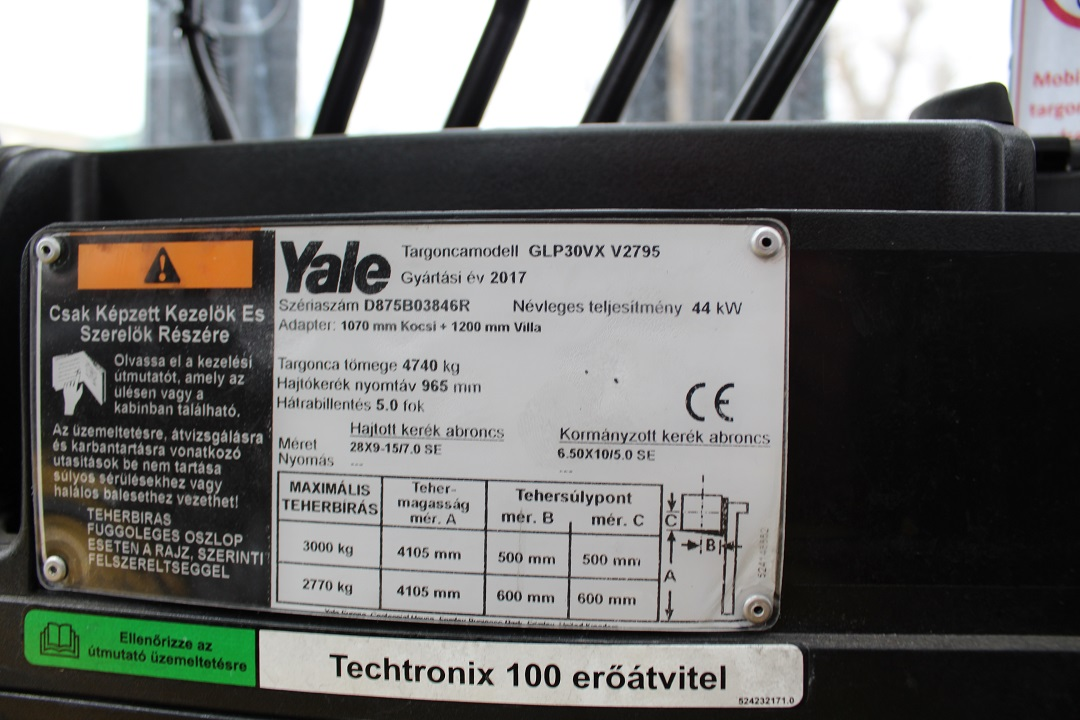YALE GLP30VX használt targonca PG304102 -4