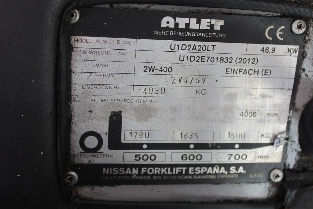 Atlet (Nissan) homlokvillág gázos targonca PG204003 -3