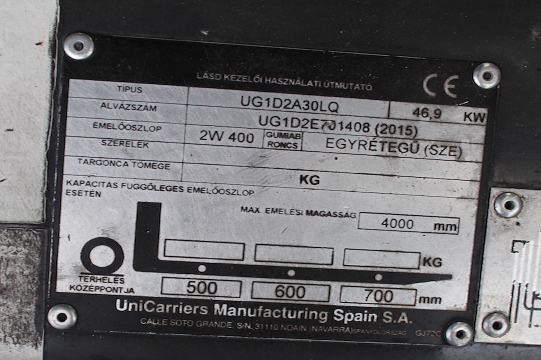 PG304022 Nissan targonca3