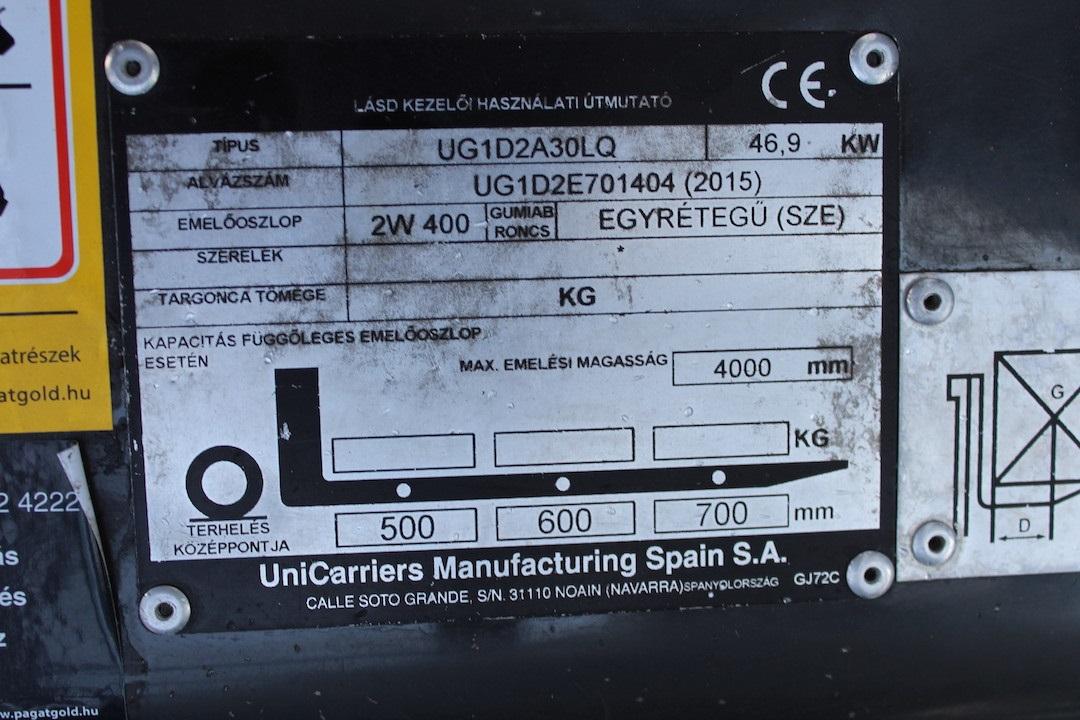 PG304019 Nissan gázos targonca2