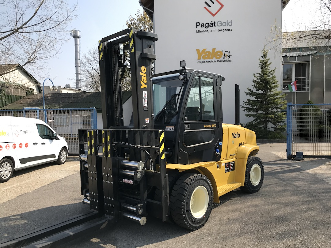 Yale GDP80VX9 típusú ÚJ dízel üzemű targonca eladó 1