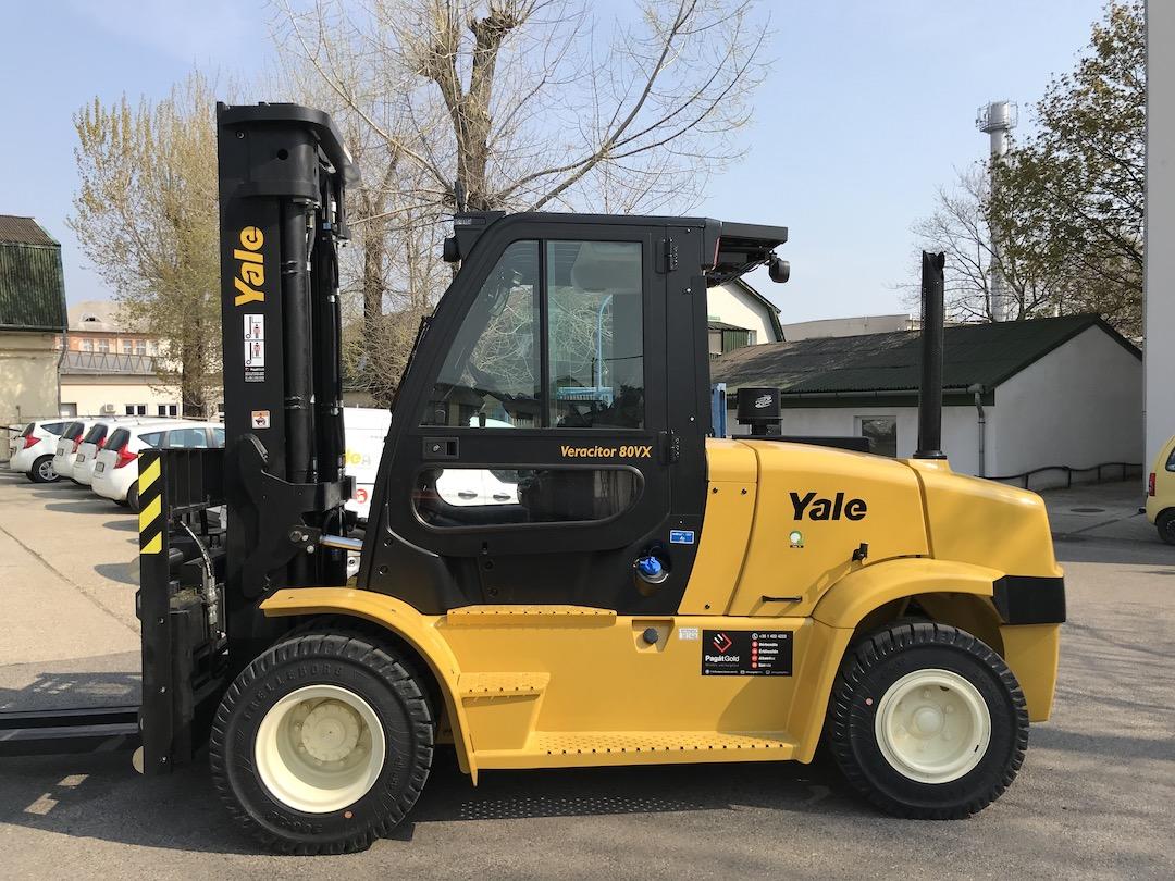 Yale GDP80VX9 típusú ÚJ dízel üzemű targonca eladó 2