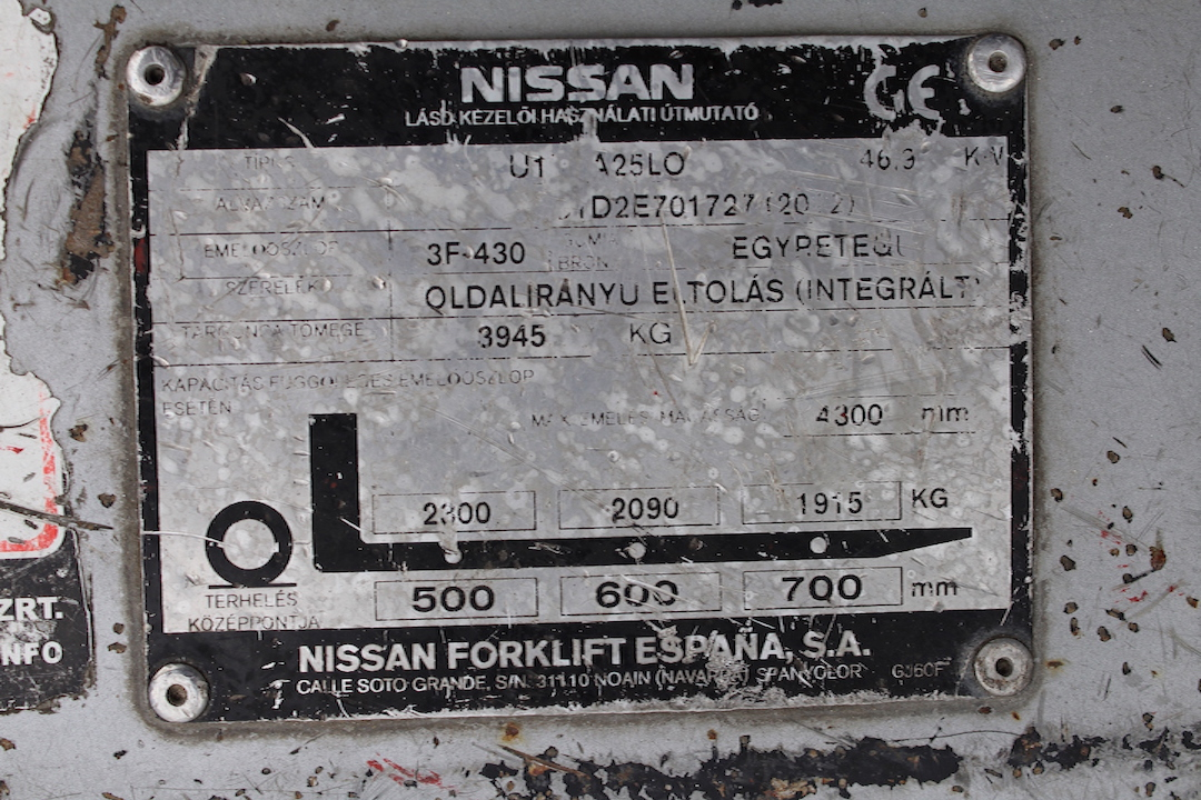 Nissan DX25LPG használt targonca PG254310-3