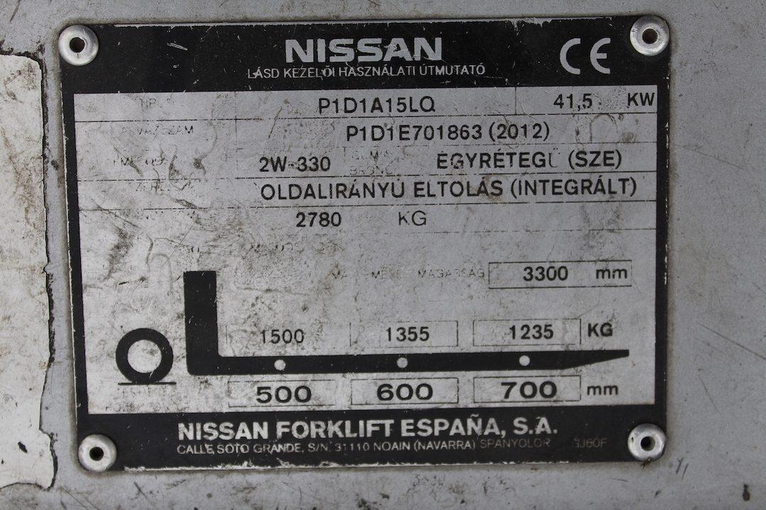 Nissan DX15LPG használt targonca PG153385-3