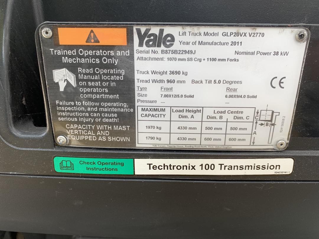 Yale GLP20VX PG204303 targonca3
