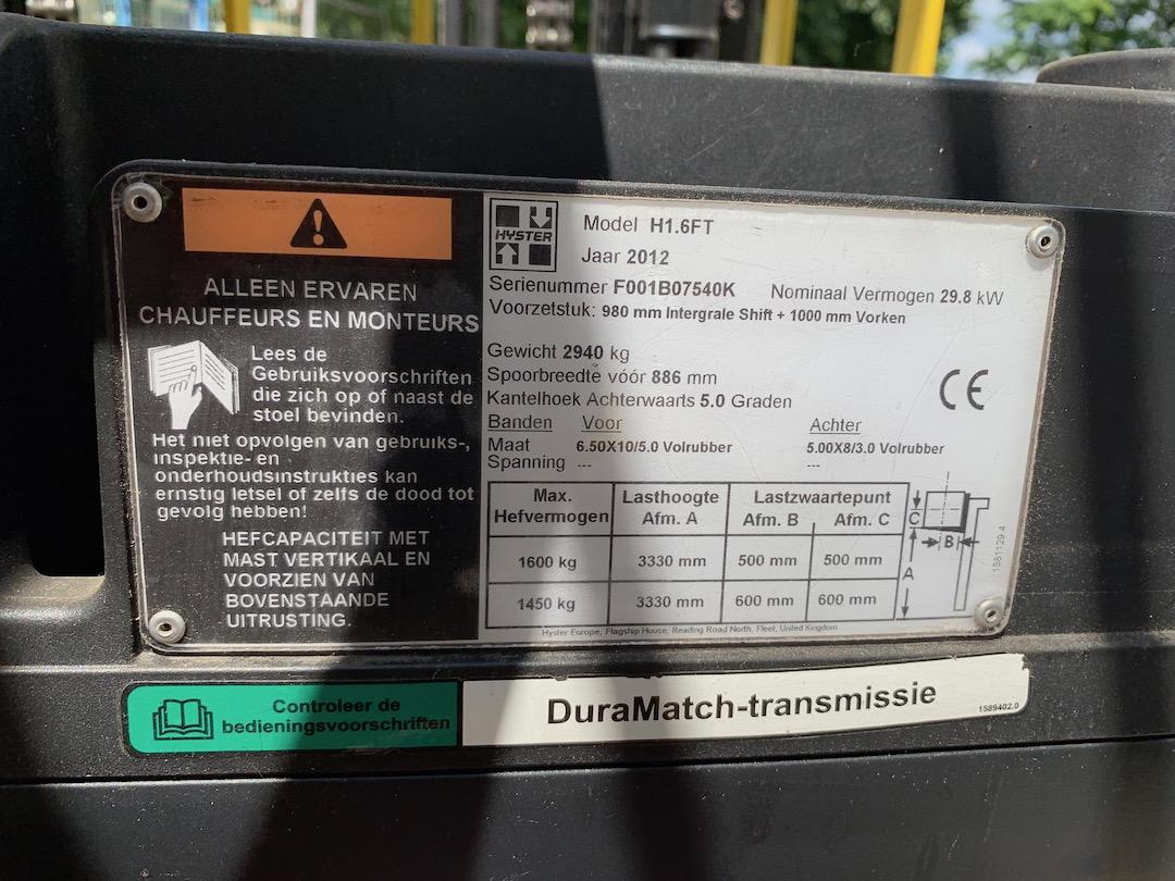 Hyster H1,6FT PG163309 targonca3