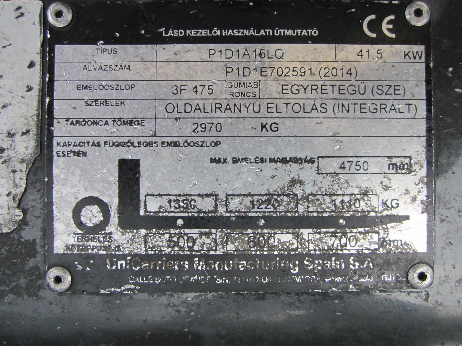 Nissan DX15LPG PG154729 targonca3