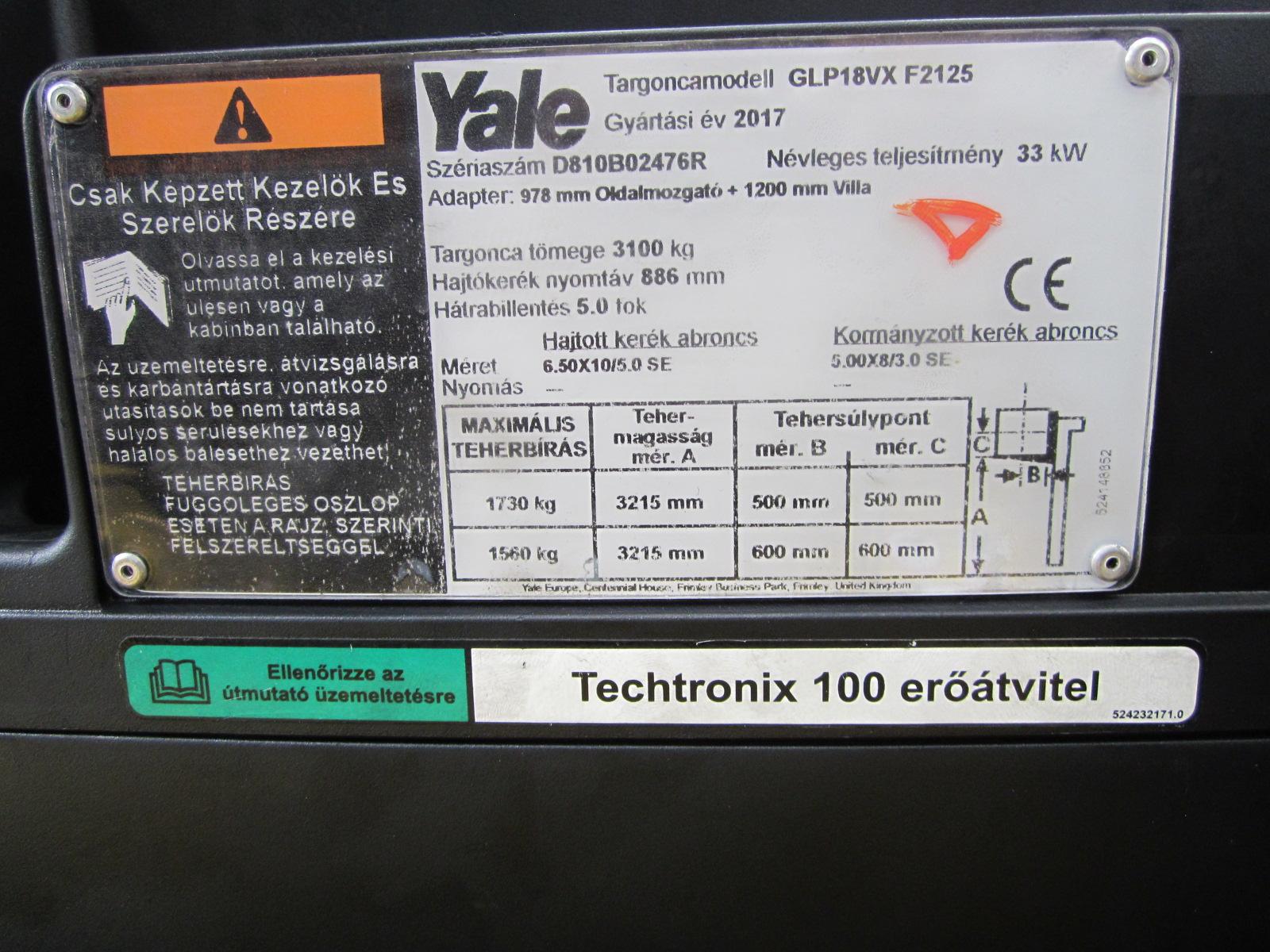 Yale GLP18VX PG2183207 targonca2