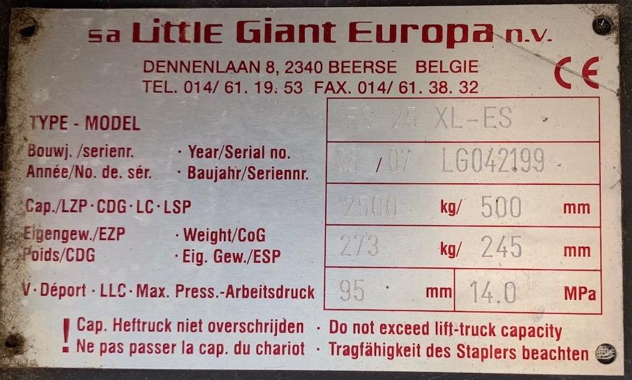 Little Giant FS25XL villapozícionáló