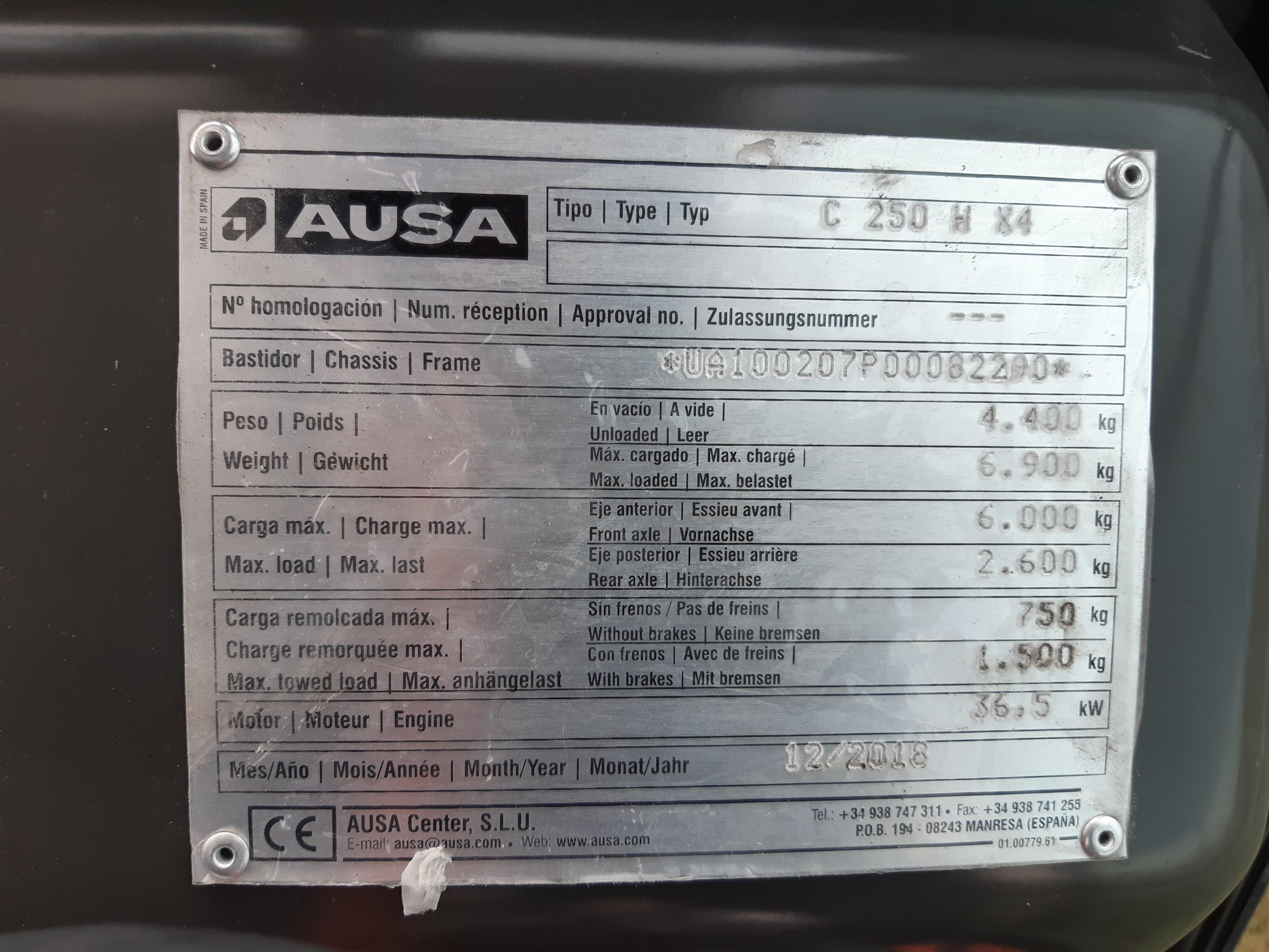 PDT253701 Ausa C250Hx4 targonca2